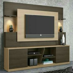 Top 50 Modern TV Stand Design Ideas For 2020 - Engineering Discoveries Tv Stand Modern Design, Tv Stand Designs, Tv Cabinet Design Modern, Tv Unit Decor, Tv Wall Decor, Wall Tv, Tv Wall Design, Tv Unit Design, Tv Unit Furniture Design