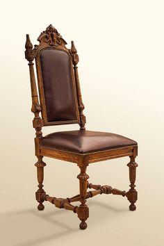 Antique English Oak Chair H 47 in. x W 19 in. x D 18 in.