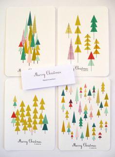Cartes de voeux, Merry Christmas, 10,5 x15 cm