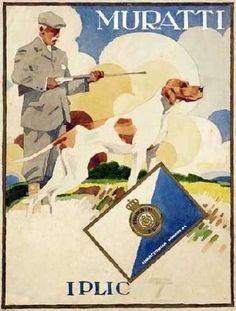 Artist : Ludwig Hohlwein,  Muratti Iplic Gold Zigaretten (1915)