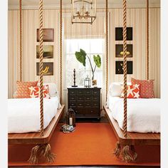 hanging beds, maybe for a beach house