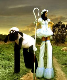 Bo-peep and sammy stilt walker, Bo-peep and Sammy stilt walker Not so little Bo-peep and her sheep Sammy will be a great addition to any event. Bo-peep and Sammy is ideal for Easter and Spring-themed events.