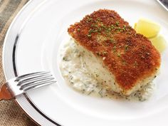 Foolproof pan-seared thick fish fillets (with no sticking): Season, dredge in flour, dip in well-beaten egg, then in panko; rest. Put gently into (enough) shimmering oil, cook ~5 min, swirling pan. When golden-brown, lift and flip; transfer to oven at 300F for ~5 min (should be 140F internally). | J. Kenji López-Alt, serious eats