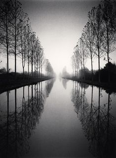 Michael Kenna, French Canal Study 2, TYBW, Loir-et-Cher, France, 1993, A Gallery for Fine Photography