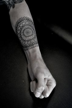 Forearm - mandala tattoo. Intricacy is amazing.