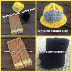 Calleigh's Clips & Crochet Creations: Firefighter Set - Crochet Pattern Review