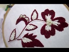 Hand Embroidery Stitches | Stem and Bullion Knot Stitch - YouTube