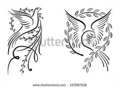 Peace Day With Dove And Olive Branch Stock Vector 154391405 : Shutterstock