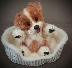 Theo the Border Collie Palm Puppy.  My newest alpaca creation.