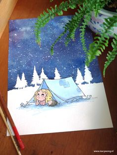 Camping – Macy Wong illustrations