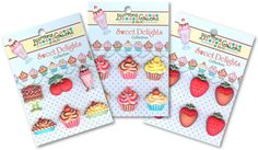 """""""Sweet Delights"""" 3D Buttons by Vicki for Buttons Galore & More"""