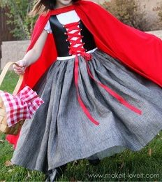 Tutorial: Little Red Riding Hood laced vest, dress, and cape · Sewing | CraftGossip.com