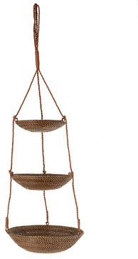 3-Tier Hanging Basket in Rattan-Nito tropical baskets