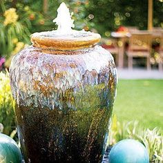 Add a little water music to your yard with these 32 inspiring garden fountain ideas from our sister publication Sunset Magazine. | Sunset.com #gardenfountains
