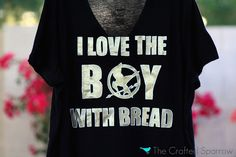 DIY Hunger Games Shirt from The Crafted Sparrow - http://j.mp/HRW64Z