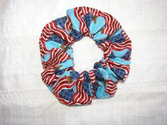American flag patriotic blue fabric Hair by coloradocntry on Etsy