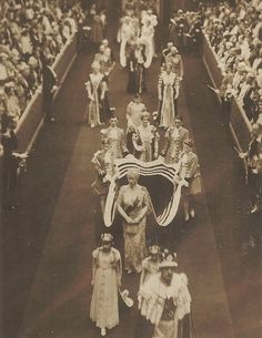Queen Mary at her son's, George VI, coronation.