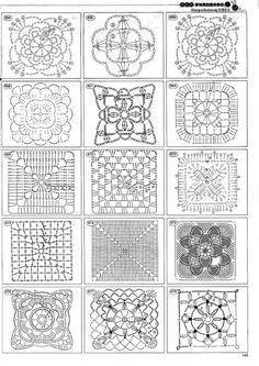 Transcendent Crochet a Solid Granny Square Ideas. Inconceivable Crochet a Solid Granny Square Ideas. Point Granny Au Crochet, Grannies Crochet, Granny Square Crochet Pattern, Crochet Diagram, Crochet Chart, Crochet Squares, Granny Squares, Crotchet Stitches, Thread Crochet