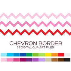 Chevron Border Clipart for Personal & Commercial by coloryourway
