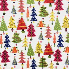 Christmas Trees Oilcloth Tablecloth Scandi Items