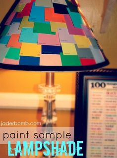 GENIUS! Paint Chip and Stencil Art@ Tarnished Silver