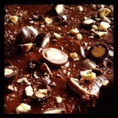 Chocolate cake with nuts