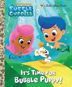 nice It's Time for Bubble Puppy! (Bubble Guppies) (Little Golden Book) Hardcover