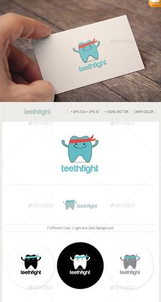 TEETH protect logo — Vector EPS #vector #hospital • Available here → https://graphicriver.net/item/teeth-protect-logo/2722211?ref=pxcr
