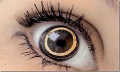 Future technology Concept the contact lens with integrated display.. #Future #technology #futuretech