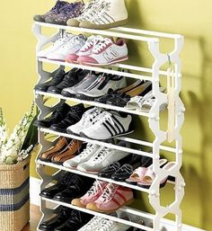 Shoe storage ideas-I really need this!