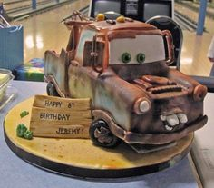 Tow Mater cake By yokko on CakeCentral.com