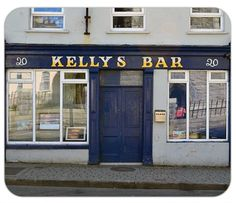 Kelly - Click on the pub image above to be the first on your block to own a unique authentic traditional family name Pubs of Ireland mousepad. The mousepad is 8¼ x 9 and is made from stain-resistant high density foam. Only $10 ea. (plus $5 s&h). Cheers!