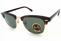 Ray-Ban CLUBMASTER Sunglasses RB3016 W0366 Mock with lens Size 51 mm and bridge size 21 mm. . These Ray-Ban Sunglasses are of the highest quality build and are 100% authentic! Package Includes: Certificate of Authenticity, Original Case, Cleaning Cloth and other original factory items...