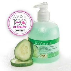 Avon Canada Contest Keep yourself safe this cold & flu season with our Naturals Cucumber Melon Antibacterial Hand Soap. Enter the #100Daysof Beauty contest for your chance to win it! Click https://www.facebook.com/myavoncanada/photos/a.149863425048223.25935.144737325560833/706732006028026/?type=1&theater to get the entry link