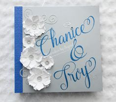 Wedding guest album. To order go to my Facebook page: Keepsakes by Ingrid