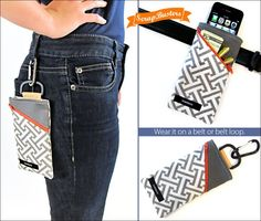 Handy Slip-on or Clip-on Belt Pouch