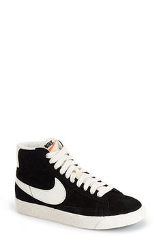Nike 'Blazer' Vintage High Top Basketball Sneaker (Women) available at Nordstrom Nike Free Shoes, Nike Shoes Outlet, Running Shoes Nike, Crossfit Shoes, Nike Free Runners, Nike High Tops, Basketball Sneakers, Sneakers Nike, Basketball Camps