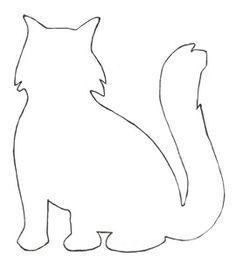 Cat pattern outline