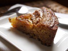 Almond Honey Cake with Orange-Rosemary Glaze