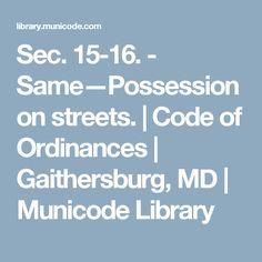 - Same—Possession on streets. Self Defense Laws, Maryland, Coding, Programming