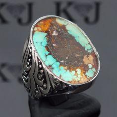 Larry M Chavez .925 Argent Sterling Turquoise & Lapis Navajo Save 50-70% Breloques, Bracelets Breloques