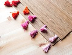 DIY tassel placemats