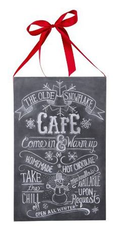 Hang this chalkboard at any room of your house, it will fit in nicely to any Christmas environment. This chalkboard features Santa's menu for the naughty ones and the good ones, Made from wood & paper