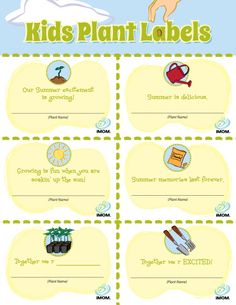 I absolutely love this idea, I wished I had them prior to planting my garden I guess we could use them to plan a few flowers.  Have fun with them. Thanks @iMOM Kids Plant Labels | iMOM