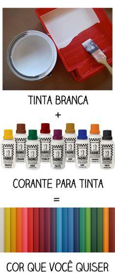 Casa de Colorir: Como misturar cores para fazer o seu próprio tom de tinta                                                                                                                                                      Mais