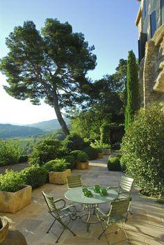 The Dora Maar House in Menerbes ~ Provence - patio