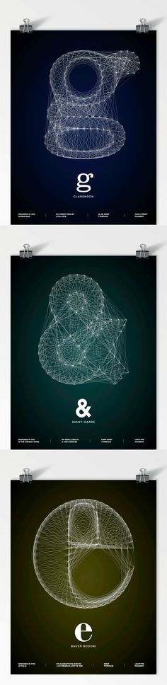 """""""Galaxy Type Posters""""  by  Romain Roger #Graphic Design # Print Design #Typography"""