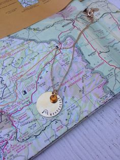 Wanderlust Necklace Gold Road Trip by BadBadJewelry, $26.00 Washer Necklace, Gold Necklace, Bad Bad, Road Trip, Wanderlust, Handmade, Jewelry, Gold Pendant Necklace, Hand Made