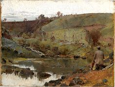 Tom Roberts  A Quiet Day on Darebin Creek   1885