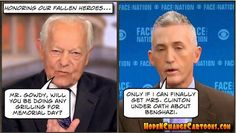 Obama: Climate change is the cause of terror.  Fox: Who made you a weather man? O: Bill Ayers. http://hopenchangecartoons.blogspot.com/2015/05/tides-of-war.html…